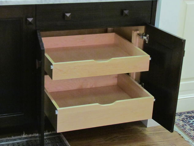 Custom kitchen storage idea