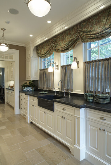 kitchen sconces over kitchen sink