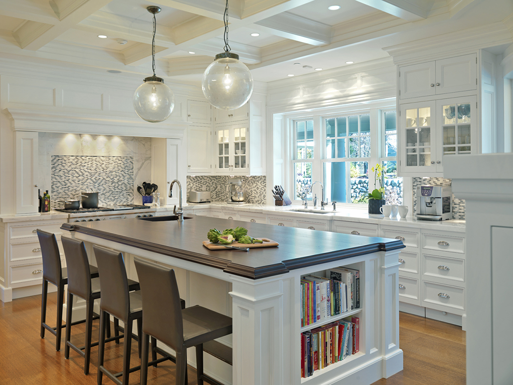 ... White Kitchen Dark Island Kitchen Remodel ...
